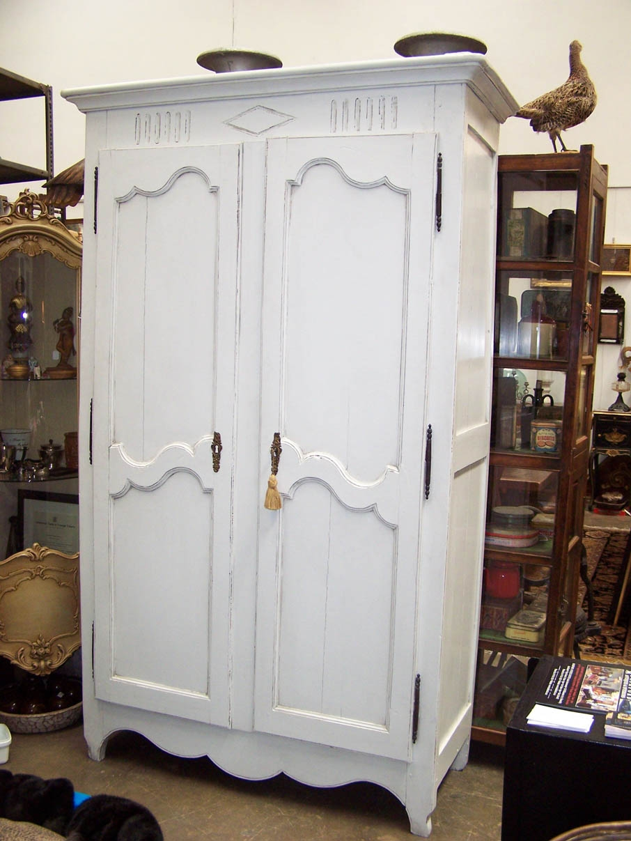 French Armoire 19th Century C1850 Painted At Bashford Antiques